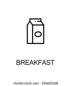 Milk flat icon. Single high quality outline symbol of breakfast for web design or mobile app. Thin line signs of for design logo, visit card, etc. Outline pictogram of milk