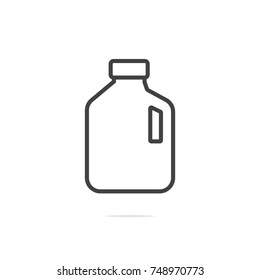 Milk gallon line icon vector