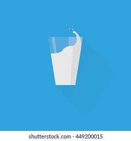 Milk glass icon, minimal flat design