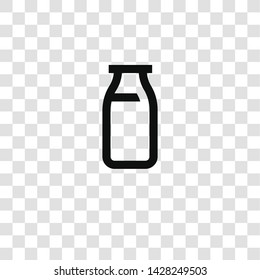 milk icon from miscellaneous collection for mobile concept and web apps icon. Transparent outline, thin line milk icon for website design and mobile, app development