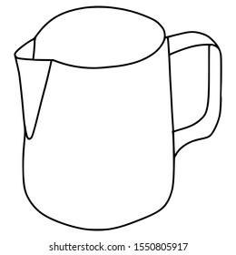 milk jug coffee illustration in graphic style han draw