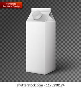 Milk, Juice, Beverages, Carton Package Blank