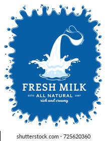 Milk logo template