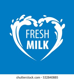 Milk logo, vector
