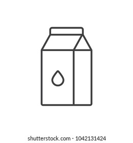 Milk package line icon.
