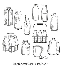 Milk. Packaging. Vector illustration.