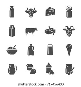 Milk products icons
