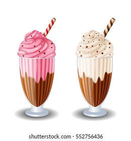 milk shake on white background