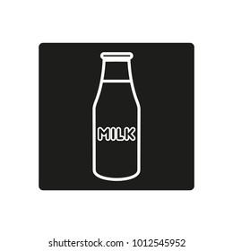 milk sign icon
