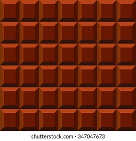 Milk Tile Chocolate Seamless Background. Vector