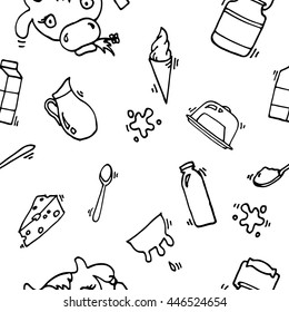 Milk vector icons pattern
