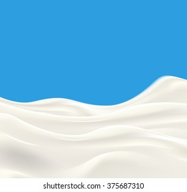 Milk wave vector illustration