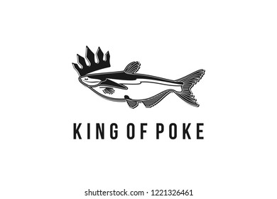 milkfish, poke king logo Designs Inspiration Isolated on White Background