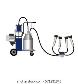 Milking machine. Vector illustration