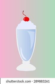 milkshake with cherry