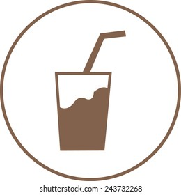 milkshake icon. vector illustration