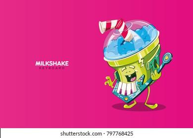 milkshake music character cute