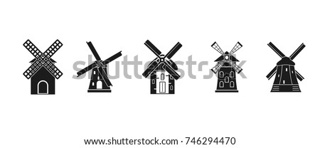 Mill icon set Simple