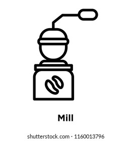 Mill icon vector isolated on white background, Mill transparent sign , line or linear sign, element design in outline style