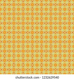 Millefleurs. Vector floral seamless background for textile, fabric, covers and manufacturing. Elegant gentle trendy seamless pattern in small-scale flower. Liberty style.