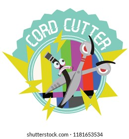 Millennial Merit Badge: Cord Cutter (trend of cancelling cable subscription services and moving towards online streaming platforms)