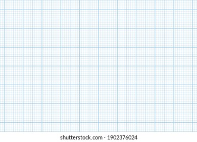 Millimeter graph paper grid. Abstract squared background. Geometric pattern for school, technical engineering line scale measurement. Lined blank for education on transparent background.