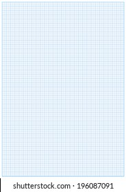 Millimeter paper A3 reel size sheet white background