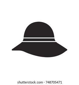 millinery icon flat black