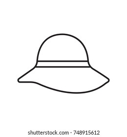 millinery icon outline