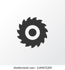 Milling cutter icon symbol. Premium quality isolated sawmill element in trendy style.