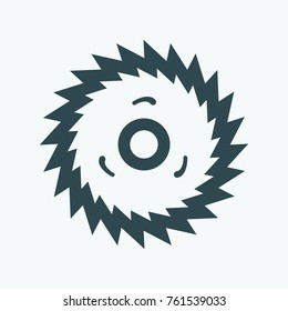 Milling disk vector icon