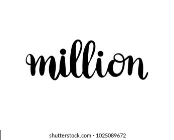 million calligraphy hand lettering vector