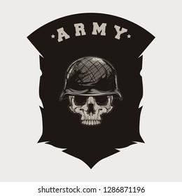 Millitary army skull vector