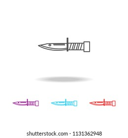 Millitary knife line icon. Elements of military in multi colored icons. Premium quality graphic design icon. Simple icon for websites, web design, mobile app, info graphics