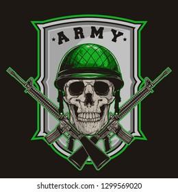 millitary skul army vector