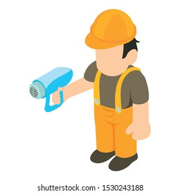 Millwright icon. Isometric illustration of millwright vector icon for web