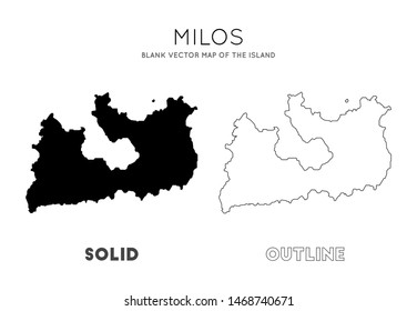 Milos map. Blank vector map of the Island. Borders of Milos for your infographic. Vector illustration.