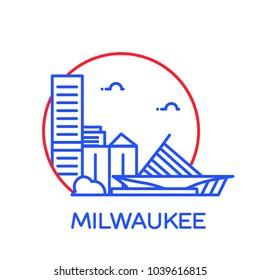 Milwaukee City icon. Vector illustration