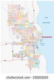 Royalty Free Milwaukee Map Images, Stock Photos & Vectors | Shutterstock