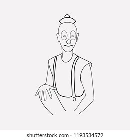Mime icon line element. Vector illustration of mime icon line isolated on clean background for your web mobile app logo design.