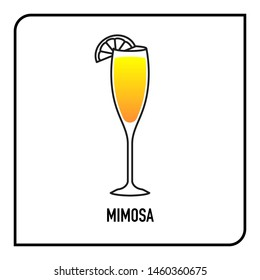 Mimosa alcoholic beverage cocktail drink