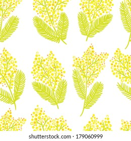 Mimosa seamless pattern.