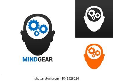 Mind Gear Logo Template Design Vector, Emblem, Design Concept, Creative Symbol, Icon