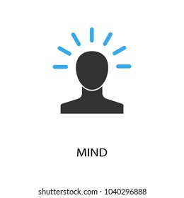 Mind icon. Logo element illustration. Good idea symbol