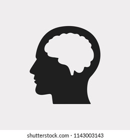 Mind icon. Mind symbol. Idea icon. Linear style sign for mobile concept and web design. Brain symbol logo illustration. vector graphics - Vector.