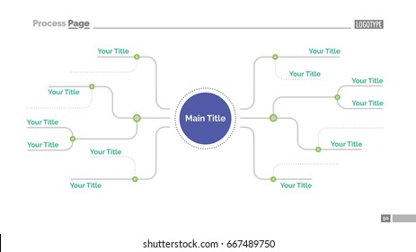 Mind map slide template