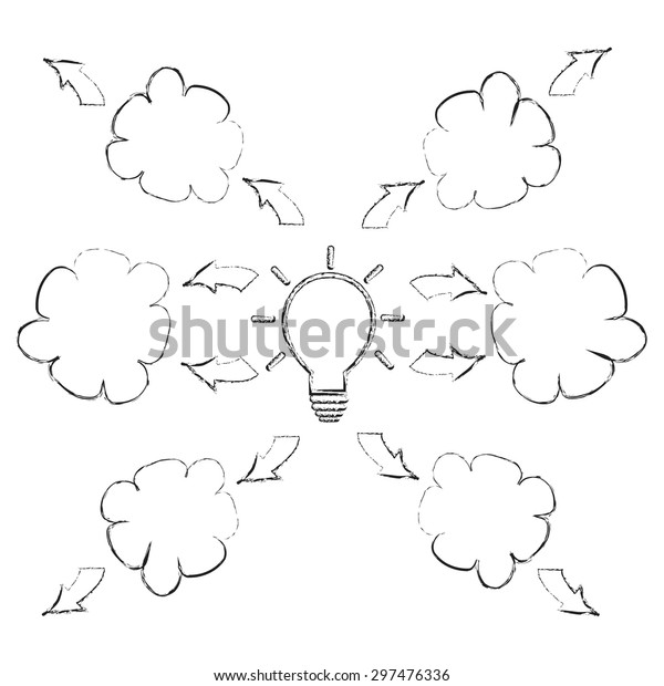 Mind Mapping Sketch Style Drawing Pencil Stock Vector Royalty Free 297476336