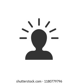Mind people icon in flat style. Human frustration vector illustration on white isolated background. Mind thinking business concept.