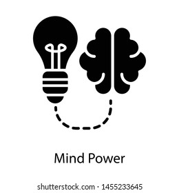 \nMind power isolated on white background \n