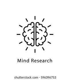 Mind Research Vector Line Icon